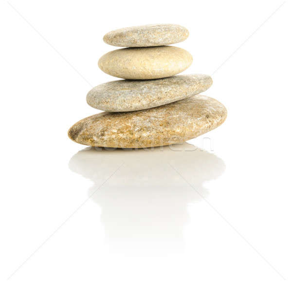 Four stones stacked in a pyramid Stock photo © anmalkov