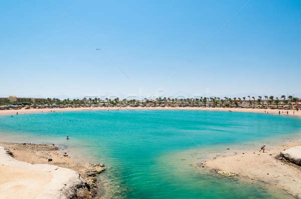 Tropical lagoon in Egypt with turquoise water and blue sky Stock photo © anmalkov