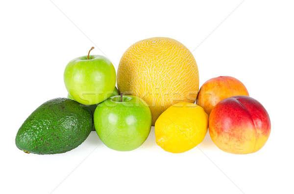 Fresco saboroso frutas isolado branco verão Foto stock © anmalkov