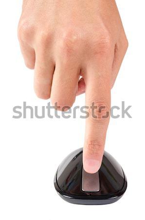Dedo pontos direito botão tocar mouse de computador Foto stock © anmalkov