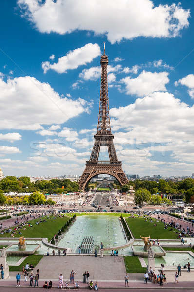 The Eiffel Tower and fountains of Trocadero in Paris France Stock photo © anmalkov