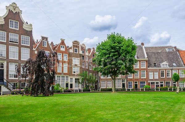 Stok fotoğraf: Eski · veranda · Amsterdam · Hollanda · şehir · ev