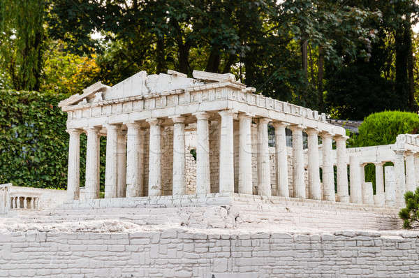 Detailed miniature model of Parthenon in Acropolis, Athens Stock photo © anmalkov