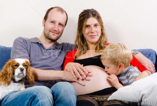 Família feliz novo bebê feliz jovem família Foto stock © anmalkov