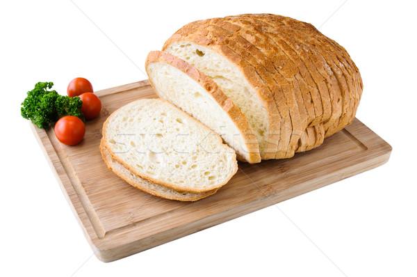 Pão branco pão alimentação branco Foto stock © anmalkov
