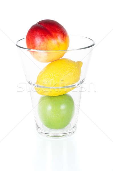 Fresco frutas vidro isolado branco saboroso Foto stock © anmalkov