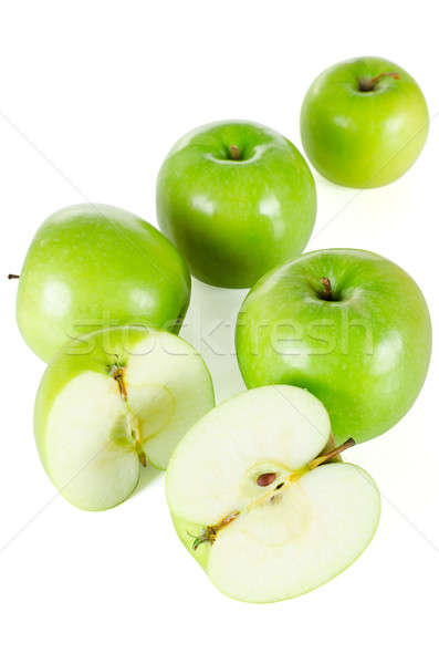 Green apples isolated Stock photo © anmalkov