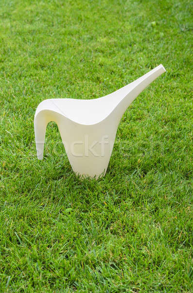 Watering can on green grass Stock photo © anmalkov