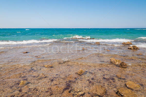 Beautiful azure red sea with waves and rocks in Egypt Stock photo © anmalkov