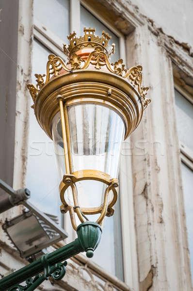 Real rua lanterna parede Bélgica enforcamento Foto stock © anmalkov