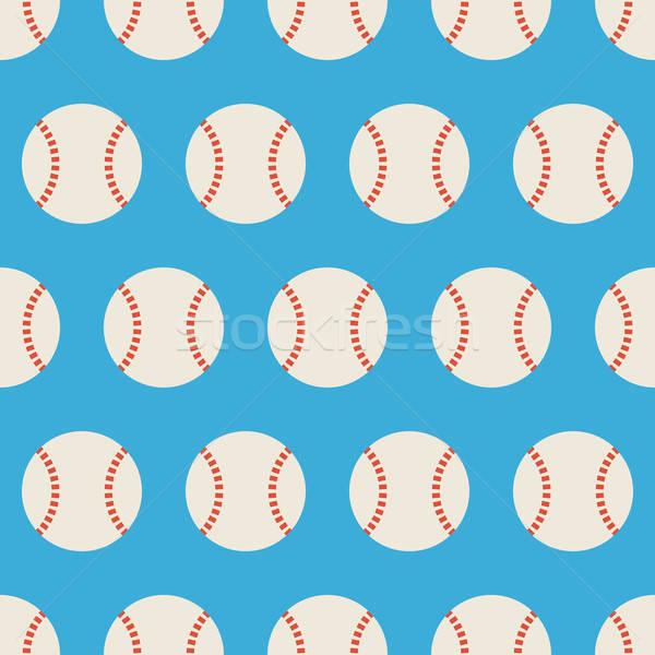 Flat Vector Seamless Sport and Recreation Baseball Pattern Stock photo © Anna_leni