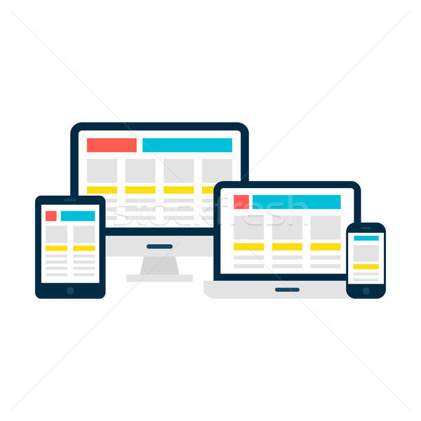 Responsive Web Design Gadgets over White Stock photo © Anna_leni