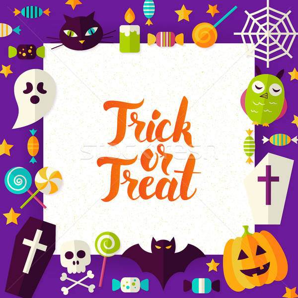 Stock photo: Trick or Treat Paper Template