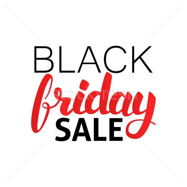 Black friday vânzare sezonier cumpărături caligrafie Imagine de stoc © Anna_leni