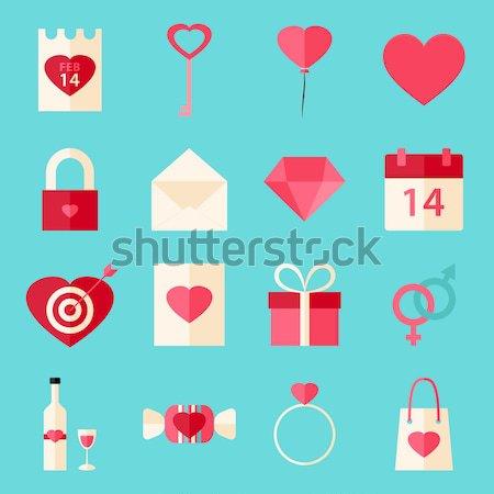 счастливым Валентин день объекты любви коллекция Сток-фото © Anna_leni