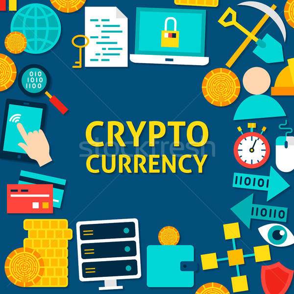Cryptocurrency Flat Template Stock photo © Anna_leni