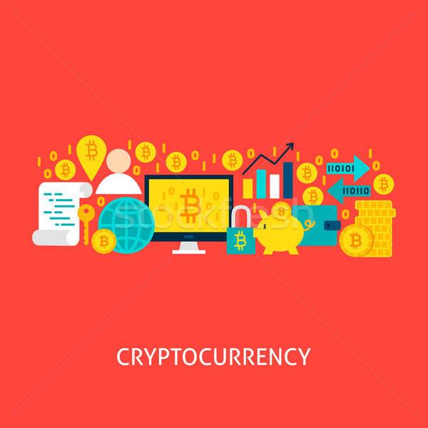 Cryptocurrency Vector Concept Stock photo © Anna_leni