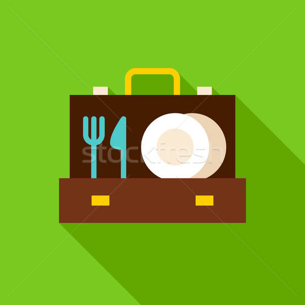 Aktetas object icon ontwerp lang Stockfoto © Anna_leni