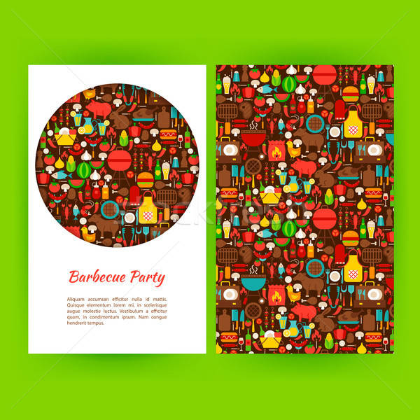Barbecue Party Flyer Template Stock photo © Anna_leni