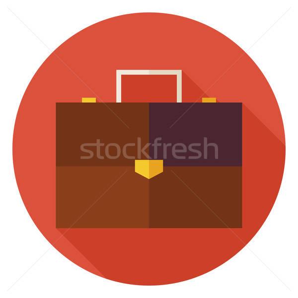 Stok fotoğraf: Ofis · iş · evrak · çantası · daire · ikon · uzun