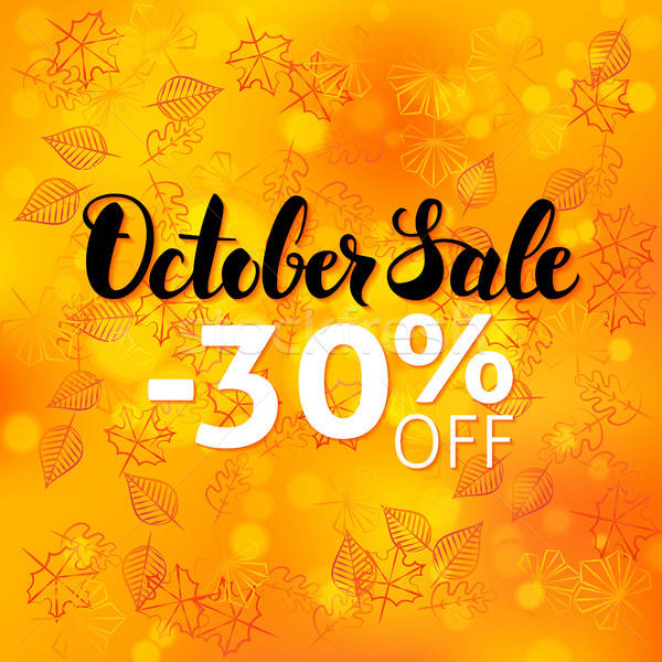 Stock photo: October Sale Poster Blurred Background