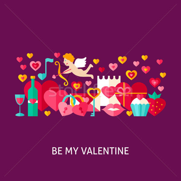 Валентин дизайна любви праздник Сток-фото © Anna_leni