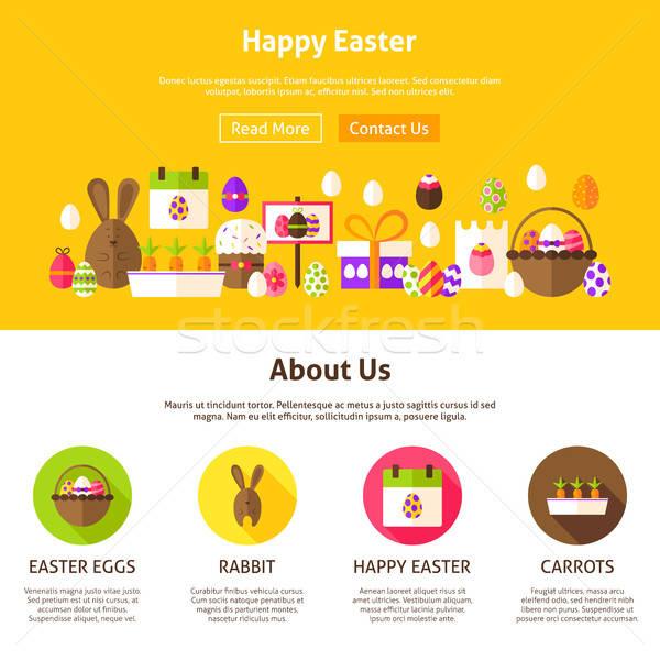 Happy Easter Web Design Stock photo © Anna_leni