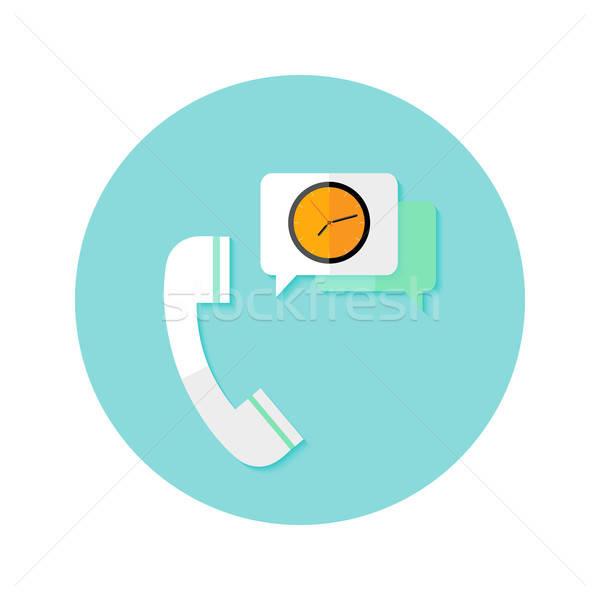 Aanvragen tijd klok cirkel icon illustratie Stockfoto © Anna_leni