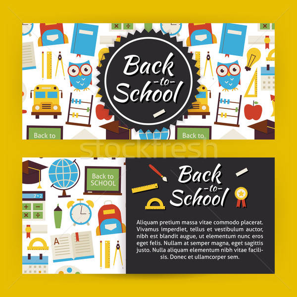 Back to School and Education Modern Flat Style Vector Template B Stock photo © Anna_leni