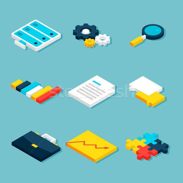 Stock photo: Big Data Analytics Isometric Objects