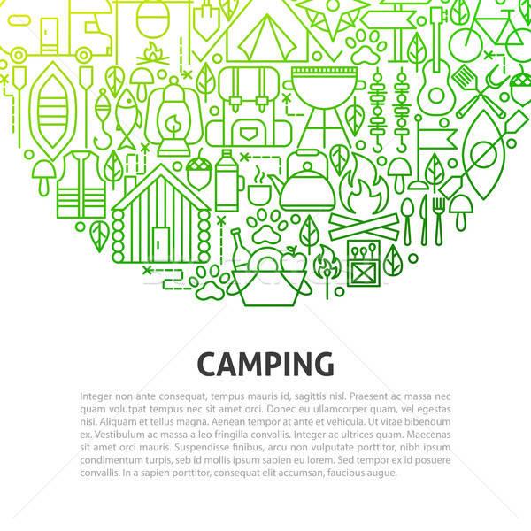 Foto stock: Camping · linha · modelo · árvore · floresta