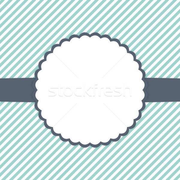 Azul de branco modelo cartão casamento Foto stock © Anna_leni