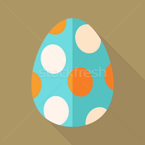 Foto stock: Huevo · de · Pascua · círculos · estilizado · ilustración · sombra · Pascua