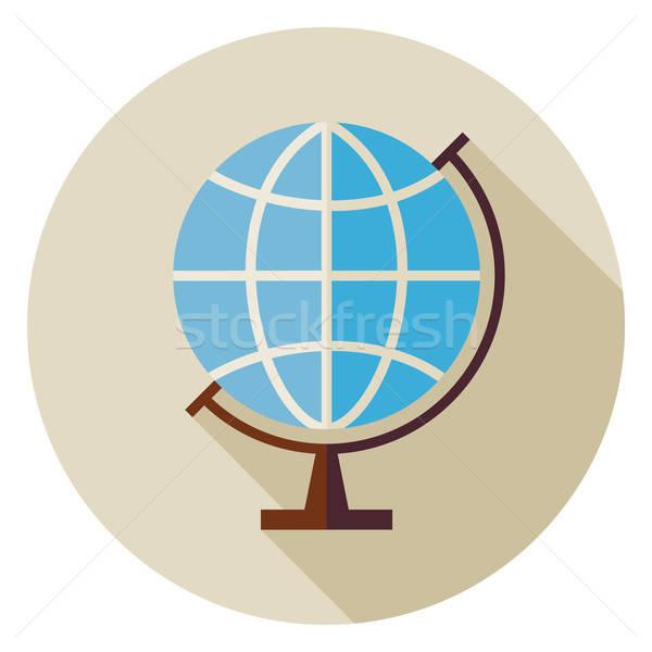 Tudomány oktatás földrajz világ földgömb kör Stock fotó © Anna_leni