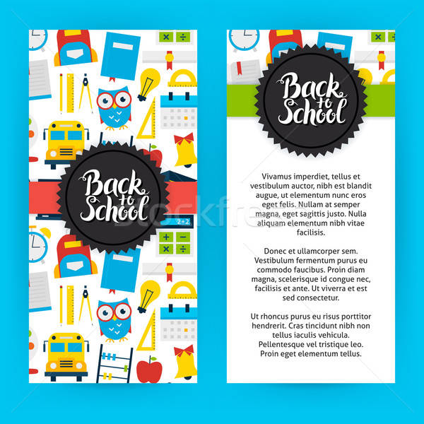 Flyer Template Back to School Stock photo © Anna_leni
