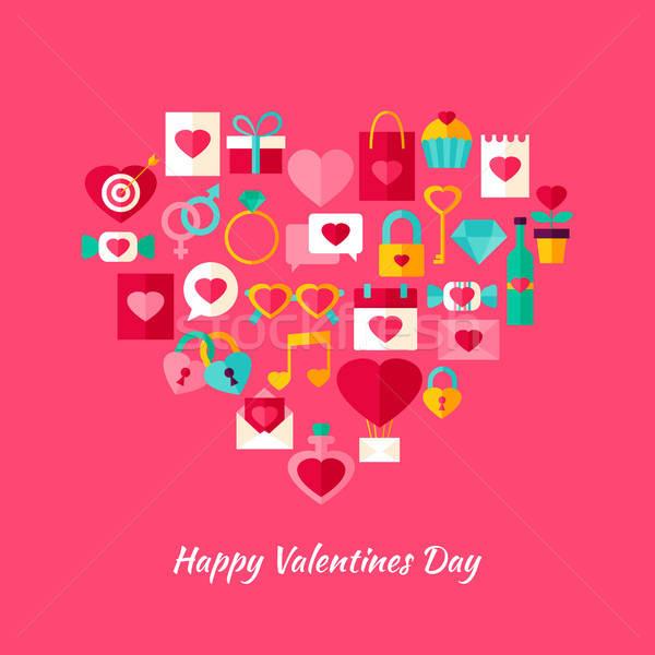 Heart Shape Valentine Day Objects Stock photo © Anna_leni