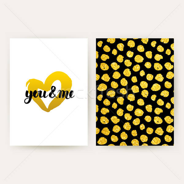 You and Me Retro Posters Stock photo © Anna_leni