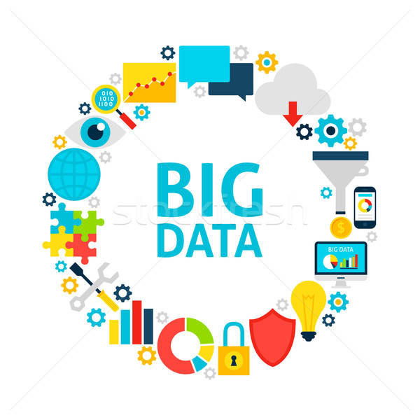 Big Data Flat Circle Stock photo © Anna_leni