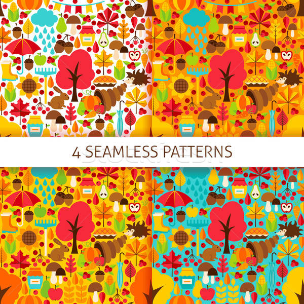 Autumn Season Seamless Patterns Stock photo © Anna_leni