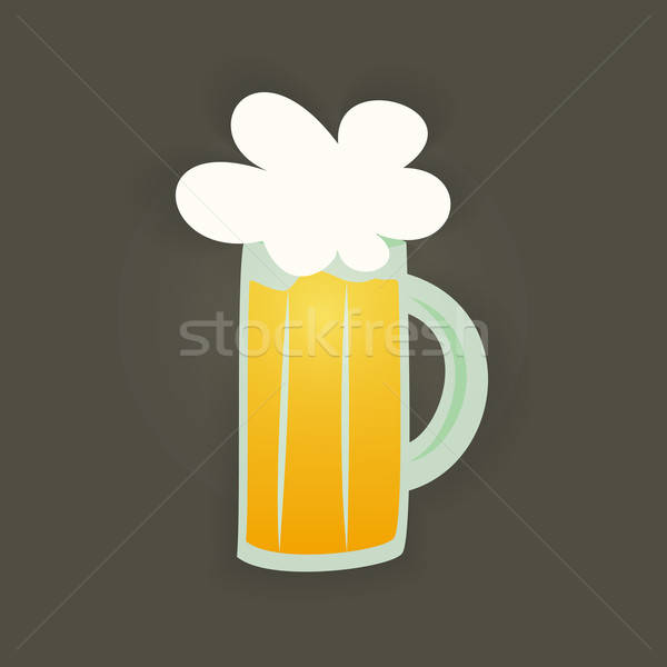 St Patrick Day glass beer mug on a brown Stock photo © Anna_leni