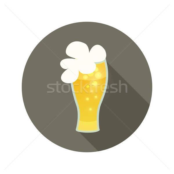 Oktoberfest beer glass mug brown circle icon Stock photo © Anna_leni