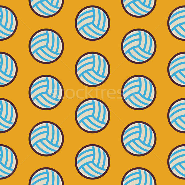 Flat Vector Seamless Sport and Recreation Activity Volleyball Pa Stock photo © Anna_leni