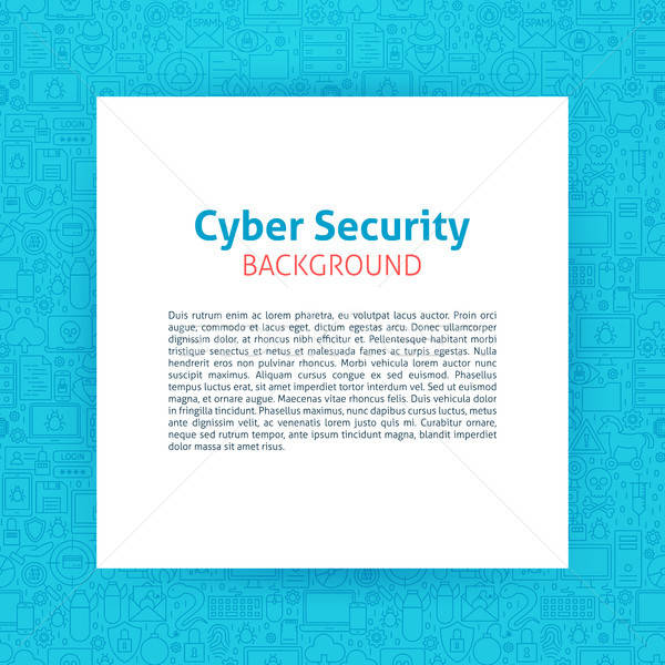 Cyber Security Paper Template Stock photo © Anna_leni