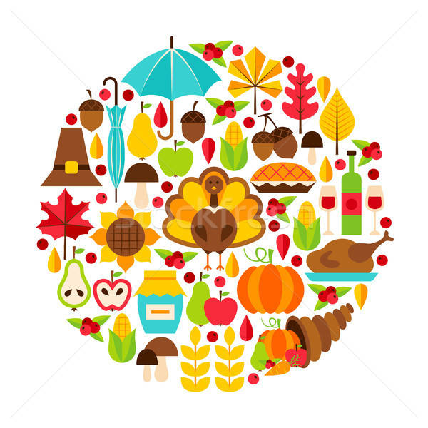 Thanksgiving Day Objects Concept Stock photo © Anna_leni