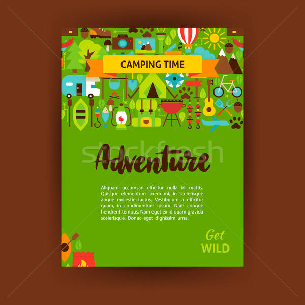 Adventure Template Poster Stock photo © Anna_leni
