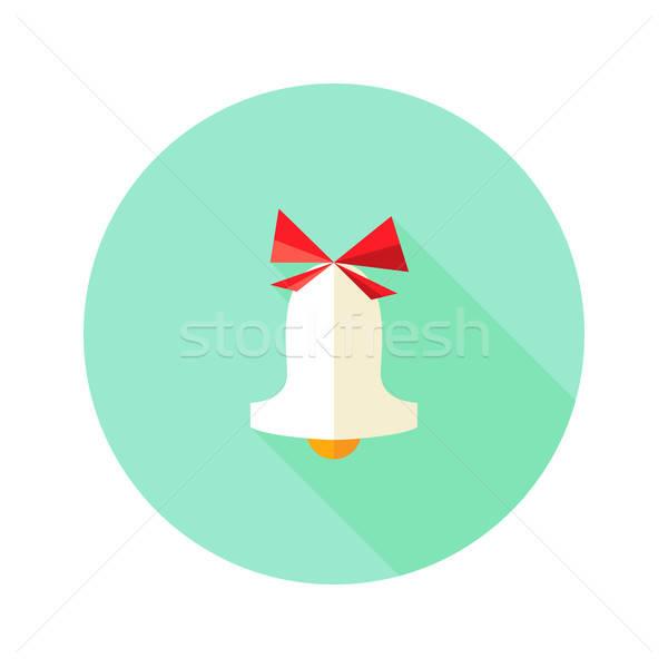 Karácsony harang ikon íj illusztráció buli Stock fotó © Anna_leni