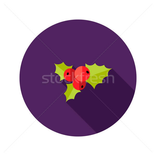 Christmas Rowanberry Flat Icon Stock photo © Anna_leni