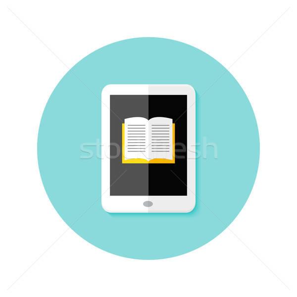 電子ブック サークル アイコン 実例 携帯 通信 ストックフォト © Anna_leni