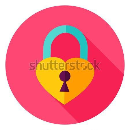 Heart shaped padlock Stock photo © Anna_leni