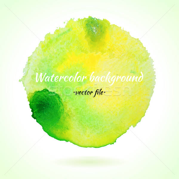 水彩画 ベクトル 薄緑 黄色 サークル 孤立した ストックフォト © Anna_leni